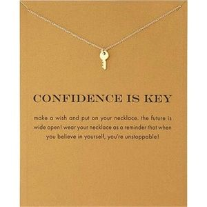 Jewelry - NEW Dainty Confidence is Key Gold pendant necklace